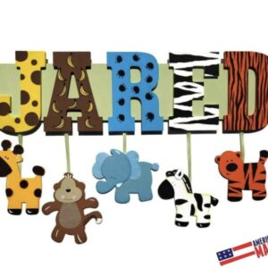 Made in Nevada Jungle Nursery Name Sign