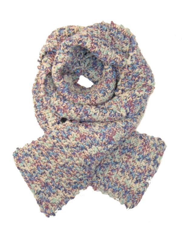 Made in Nevada Seafoam Swank Hand-Crocheted Scarf – Cool Cotton Collection