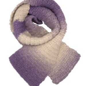 Made in Nevada Sparkly Perp-le Hand-Crocheted Scarf (Youth)