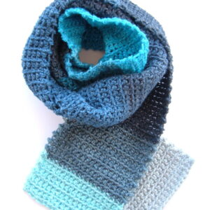 Made in Nevada Suspended Seahorse Hand-Crocheted Scarf