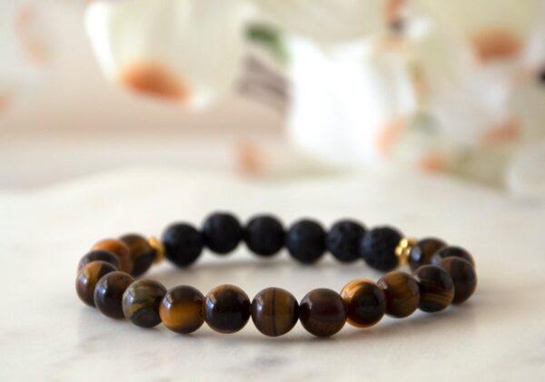 Made in Nevada Tigers Eye Gemstone Bracelet Diffuser Aromatherapy Jewelry