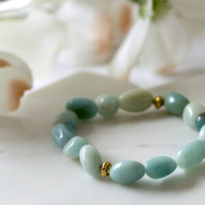 Made in Nevada Amazonite Pebble Bead Gemstone Bracelet