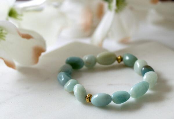 Made in Nevada Amazonite Pebble Bead Gemstone Bracelet