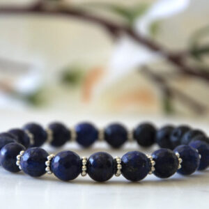 Made in Nevada Lapis Lazuli Gemstone Bracelet Aromatherapy Diffuser Jewelry