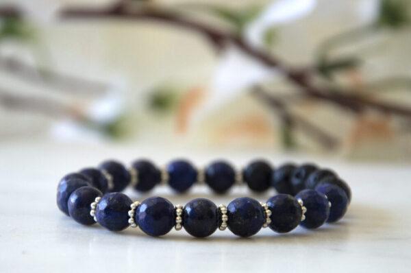 Made in Nevada Lapis Lazuli Gemstone Bracelet Aromatherapy Diffuser Jewelry
