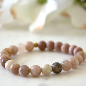Made in Nevada Sunstone Gemstone Bracelet Aromatherapy Diffuser Jewelry