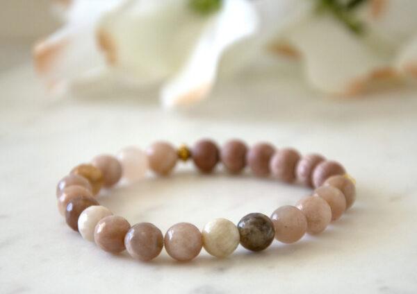 Made in Nevada Sunstone Gemstone Bracelet Aromatherapy Diffuser Jewelry