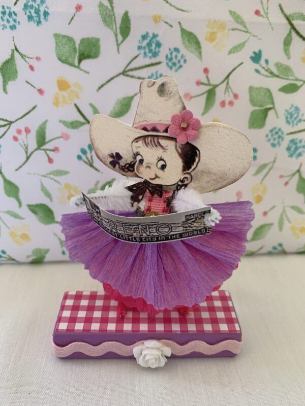 Made in Nevada Belle the Cowgirl – Vintage Inspired Chenille Paper Doll
