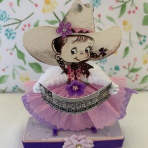 Made in Nevada Cowgirl Rose – Vintage Inspired Chenille Paper Doll