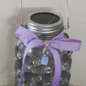 Made in Nevada Lavender and Moonstone Solar Lantern