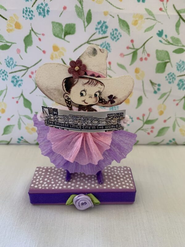 Made in Nevada Cowgirl Jane – Vintage Inspired Chenille Paper Doll