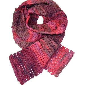 Made in Nevada Fruits On The Loom Hand-Crocheted Scarf – Cool Cotton Collection