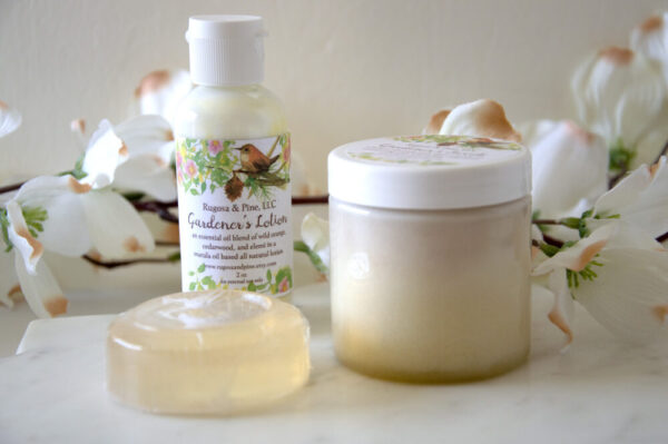 Made in Nevada Gardener's Hand Scrub Essential Oil Lotion Aromatherapy Set