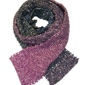 Made in Nevada Got Purplitude Hand-Crocheted Scarf – Cool Cotton and Sparkly Collections