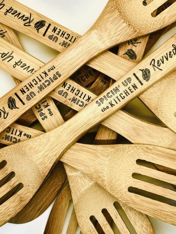 Made in Nevada Revved Up Bamboo Spatula
