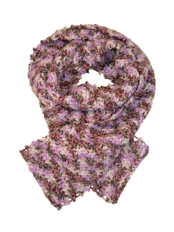Made in Nevada Kal-eyed-o-sc-optic Hand-Crocheted Scarf – Cool Cotton Collection