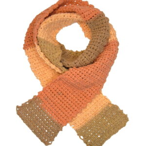 Made in Nevada Sand(stone)box Hand-Crocheted Scarf – Cool Cotton Collection