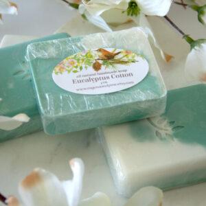 Made in Nevada Eucaluptus Cotton Handmade Buttermilk Soap