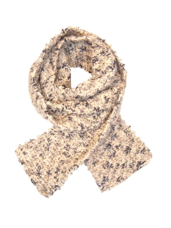 Made in Nevada Sunflower Seed Like Hand-Crocheted Scarf – Cool Cotton Collection