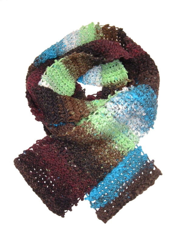 Made in Nevada Far Out! Hand-Crocheted Scarf – Cool Cotton Collection