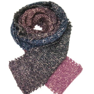 Made in Nevada Hope Royale Hand-Crocheted Scarf – Cool Cotton and Sparkly Collections
