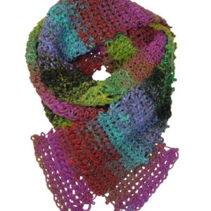 Made in Nevada Jubilance Hand-Crocheted Scarf – Cool Cotton Collection