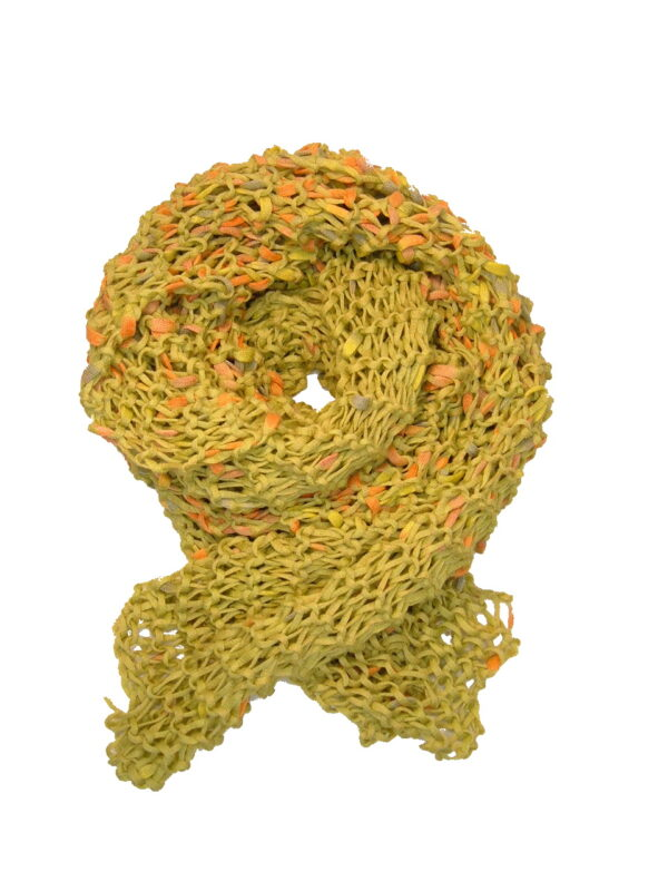 Made in Nevada Peas Porridge, Hot! Hand-Knitted Scarf – Cool Cotton Collection
