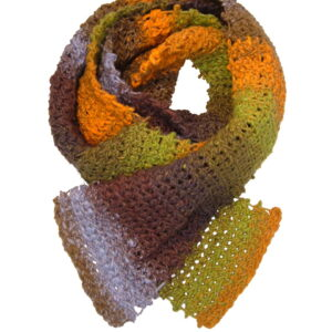 Made in Nevada Trail-s-eyed Hand-Crocheted Scarf – Cool Cotton Collection
