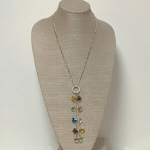 Made in Nevada Cascading Crystal Butterfly Necklace