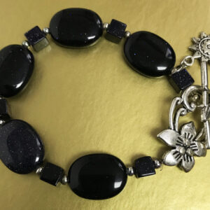Made in Nevada Blue Sunstone and Silver Bracelet