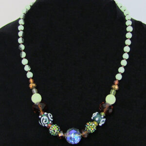Made in Nevada Austrian Crystal and Lampwork Bead Necklace