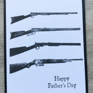 Made in Nevada Black and White Rifle Enthusiast card