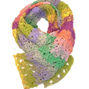 Made in Nevada All Day Primrose Hand-Crocheted Scarf – Cool Cotton Collection