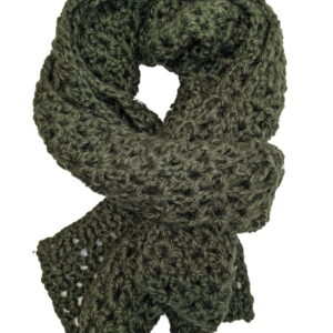 Made in Nevada Army Charm Hand-Crocheted Scarf – Fall-Winter Collection