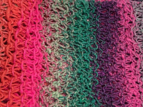 Made in Nevada Bold & Beautiful Hand-Knitted Scarf – Cool Cotton Collection