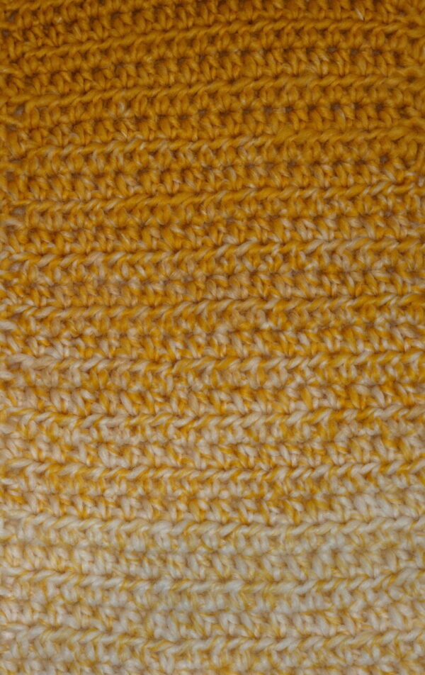 Made in Nevada Butterscotch Hand-Crocheted Scarf – Fall-Winter Collection