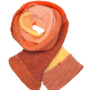 Made in Nevada Chorus of Corals Hand-Crocheted Scarf – Ombre Collection