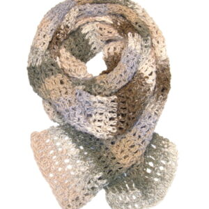 Made in Nevada Eartha Hand-Crocheted Scarf – Cool Cotton Collection