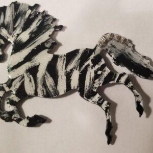 Made in Nevada 3D metal, multi-media, Zebra
