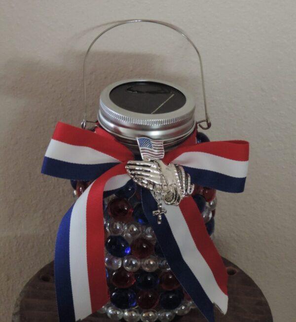 Made in Nevada Solar Lantern ~ Pray for America