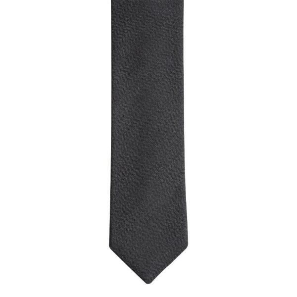 Made in Nevada Black wool necktie