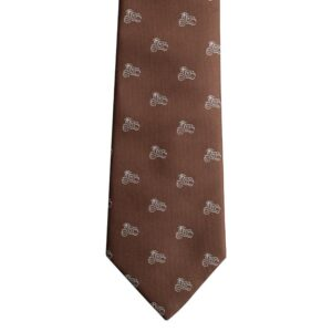 Made in Nevada Brown necktie with white vespa