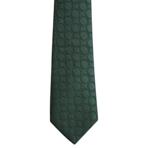 Made in Nevada Dark green necktie with double circles (extra long)
