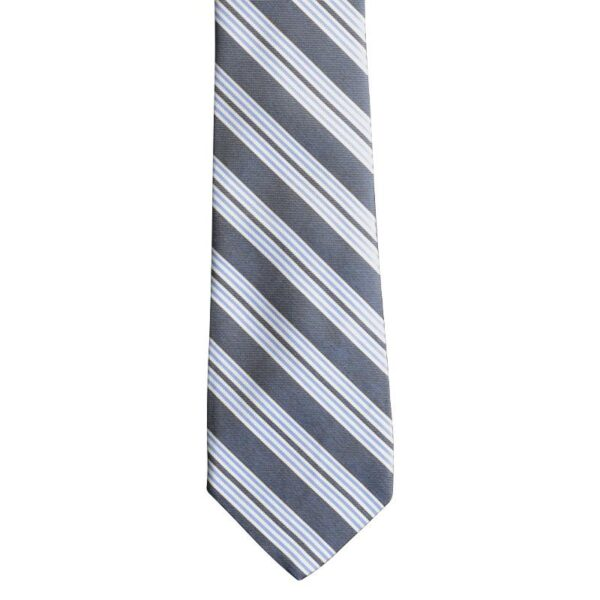 Made in Nevada Blue necktie with white and light blue stripes
