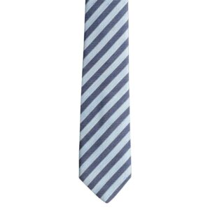 Made in Nevada Light and dark blue diagonal stripes tie
