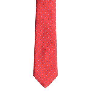 Made in Nevada Red necktie with dark/light blue design