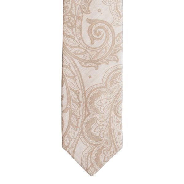 Made in Nevada Tan necktie with tan paisley