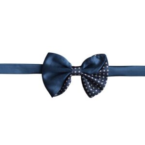 Made in Nevada Dark blue bow tie with white stars