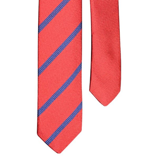 Made in Nevada Red necktie with blue stripes