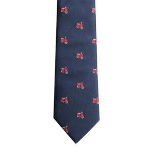 Made in Nevada Dark blue necktie with red Vespa